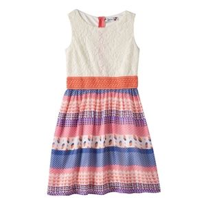 Speechless Exposed Zipper Floral Crotchet Dress